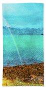 Rainbow On Videy Beach Towel