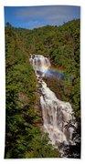 Rainbow Over Whitewater Falls Beach Towel