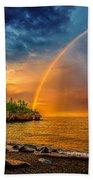 Rainbow Point Beach Towel