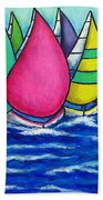 Rainbow Regatta Beach Towel