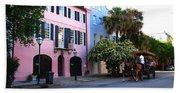 Rainbow Row Charleston Beach Towel