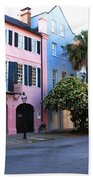Rainbow Row Charleston Beach Towel