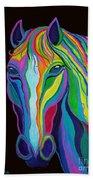 Rainbow Stallion Beach Towel
