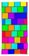 Rainbow Tiles Beach Towel