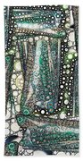 Rainbow Trout Thingies Beach Towel by Ron Bissett