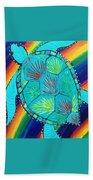 Rainbow Turtle Beach Towel