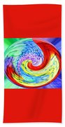 Rainbow Twirl Beach Towel