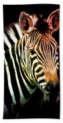 Rainbow Zebra Beach Towel