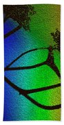 Rainbows And Stary Clouds Beach Towel
