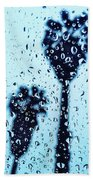 Raindrop Palms Beach Towel