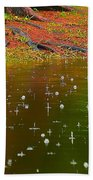 Raindrops Falling From A Tree Beach Towel