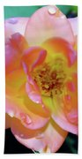 Raindrops On The Pink Rose Beach Towel
