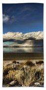 Rainfall Over The Salt Lake Beach Towel