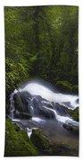 Rainforest Riverflow Scene Beach Towel
