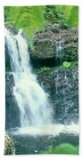Rainforest Waterfalls Beach Towel