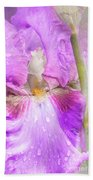 Raindrops On Persian Berry Iris Beach Towel