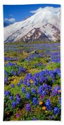 Rainier Lupines Beach Towel
