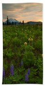 Rainier Wildflower Light Beach Towel