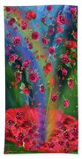Raining Roses 2 Beach Towel