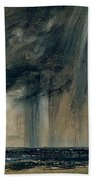Rainstorm Over The Sea Beach Towel by John Constable