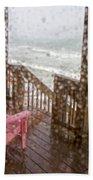 Rainy Beach Evening Beach Towel