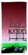 Rainy Day At The Market Beach Towel