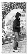 Rainy Day At The Wat Phra That Temple Beach Towel