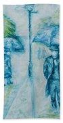 Rainy Day Impression Beach Towel