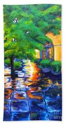 Rainy Dutch Alley Beach Towel
