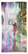 Rainy Paris Day Beach Towel by Darren Cannell