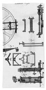 Ramsdens Dividing Engine, 18th Century Beach Towel
