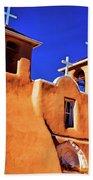 Ranchos De Taos Church Beach Towel