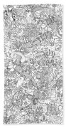 Random And Pop-culture Themed Coloring Poster Beach Towel