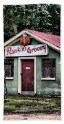 Rankins Grocery In Watercolor Beach Towel