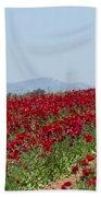 Ranunculus Red Beach Towel