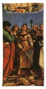 Raphael St Cecilia With Sts Paul John Evangelists Augustine And Mary Magdalene Beach Towel