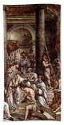 Raphael The Baptism Of Constantine Beach Towel