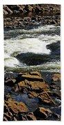 Rapids And Rocks Beach Towel