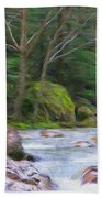 Rapids At The Rivers Bend Beach Towel