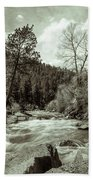 Rapids During Spring Flow On The South Platte River Beach Towel