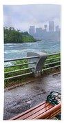 Rapids In The Rain Beach Towel