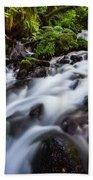Rapids On Wahkeena Creek Beach Towel by Hans Franchesco