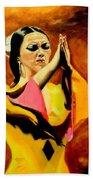 Raquel Heredia - Flamenco Dancer Sold Beach Towel