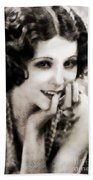 Raquel Torres, Vintage Actress Beach Towel