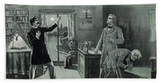 Rare Dr. Jekyll And Mr. Hyde Transformation Poster Beach Towel
