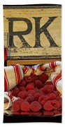 Raspberries At The Market Beach Towel