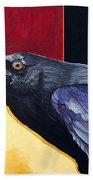 Raven Of The Tomorrow Wings Beach Towel