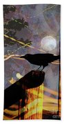 Ravens Night Beach Sheet