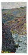 Ravines Of The Creuse At The End Of The Day Beach Towel
