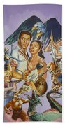 Ray Harryhausen Tribute Seventh Voyage Of Sinbad Beach Towel